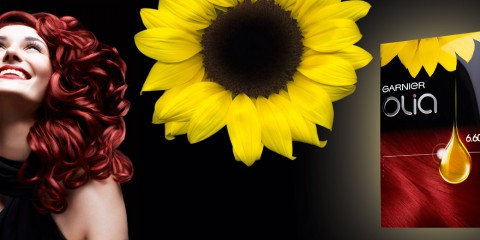 Garnier Olia - červená barva na vlasy