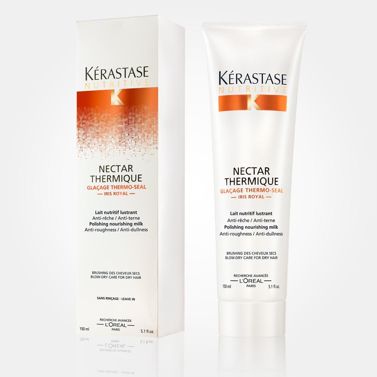 Nectar Thermique – pro suché vlasy. Vyživující mléko pro lesk vlasů.