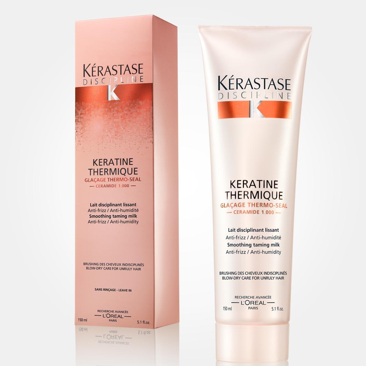 Keratin thermique – pro nepoddajné vlasy. Uhlazující mléko pro poddajné vlasy