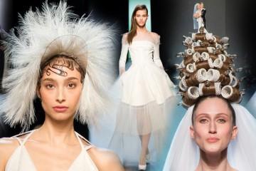 Jean Paul Gaultier opět provokuje. Jeho Haute Couture kolekce je jedna velká provokativní svatba. A nejluxusnější nevěsta přišla v natáčkách!