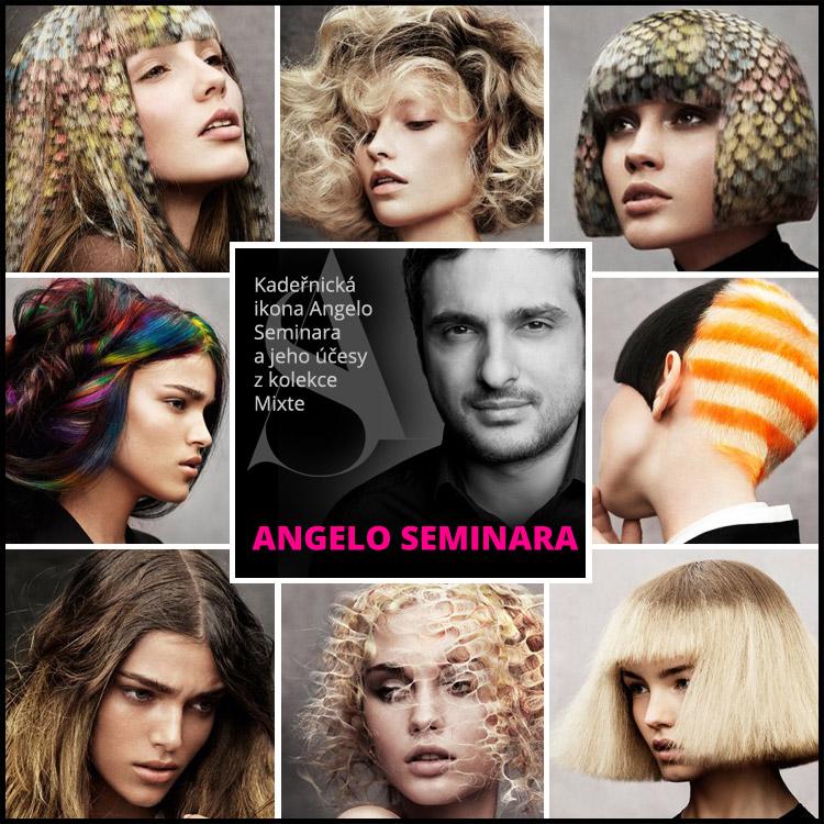 Kadeřnická ikona Angelo Seminara a jeho účesy z kolekce Mixte
