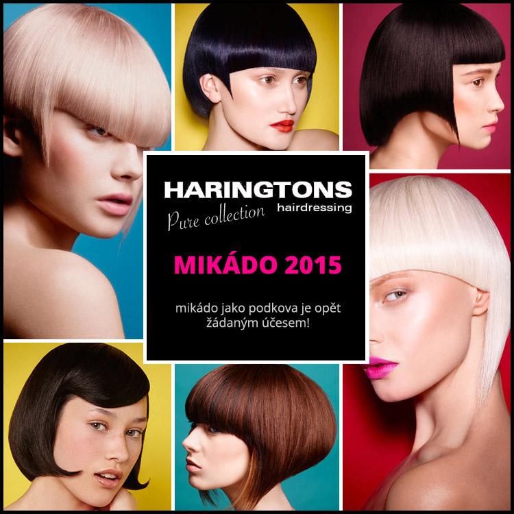 Mikádo 2015 – mikádo jako podkova je opět žádaným účesem! Inspiraci najdete také v kolekci Pure od Haringtons Hairdressing.