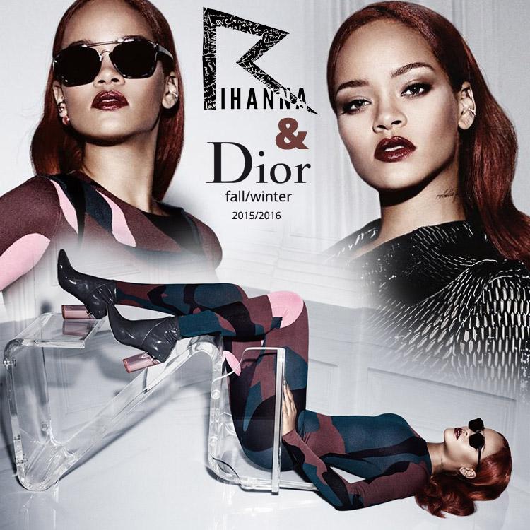 53b6fefe2d Rihanna žiari v kampani Dior v dokonalej farbe vlasov Marsala a podarených  hollywoodskych vlnách!
