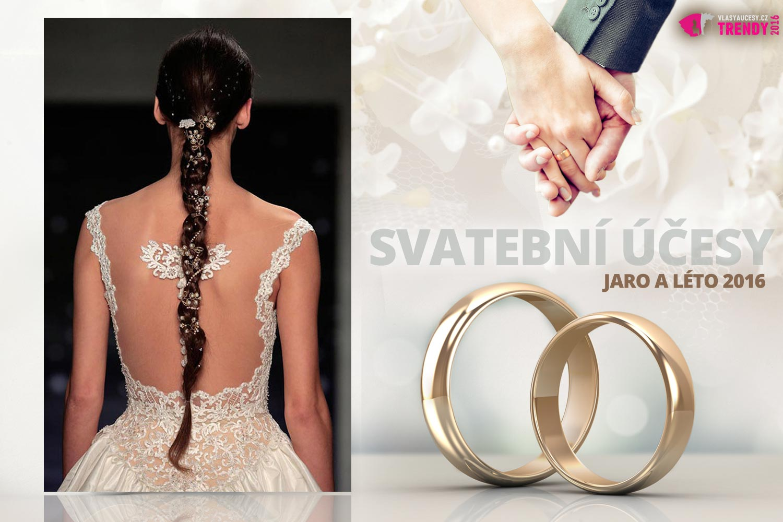 Svatební účesy pro jaro a léto 2016 ke kolekci svatebních šatů Reem Acra.