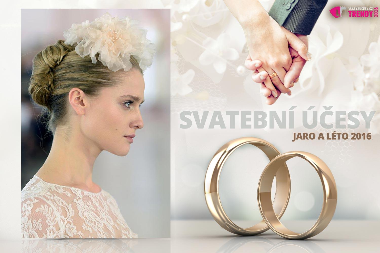 Svatební účesy pro jaro a léto 2016 ke kolekci svatebních šatů Oscar de la Renta.