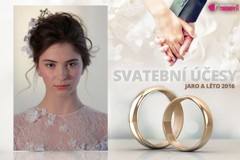 Svatební účesy pro jaro a léto 2016 ke kolekci svatebních šatů Angel Sanchez.