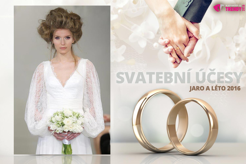 Svatební účesy pro jaro a léto 2016 ke kolekci svatebních šatů Theia.