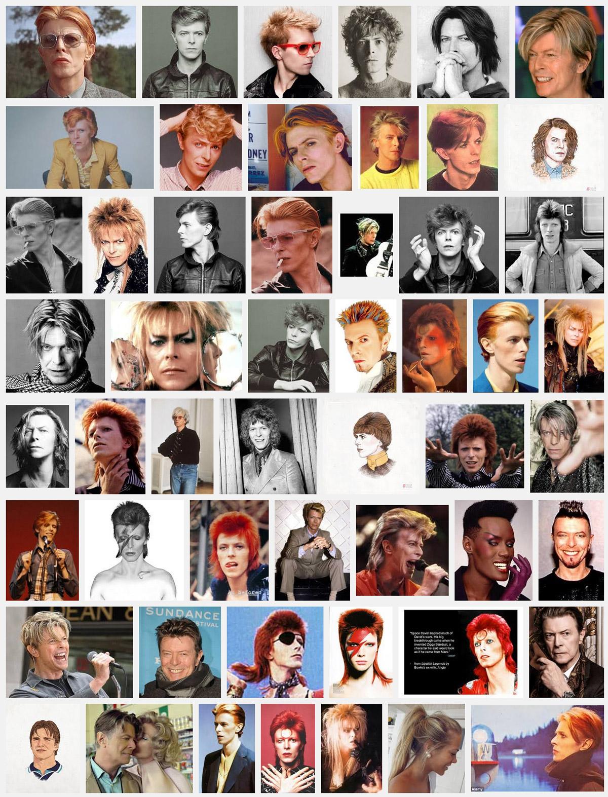 Účesy David Bowie