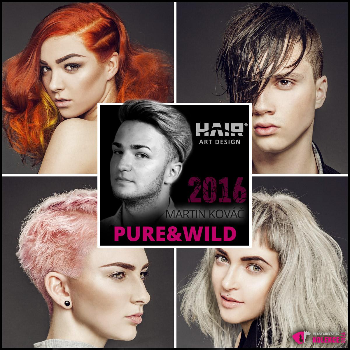 """Nová kolekce Hair Art Design < a href=""""http://www.hairartdesign.com"""" target=""""_blank"""">www.hairartdesign.com</a> s názvem Pure&Wild představuje účesy pro jaro a léto 2016. Najdete v ní jeden aktuální módní účesový trend vedle druhého. A majitel salonu, Martin Kováč, se nebojí přiznat, že je """"stylař""""."""