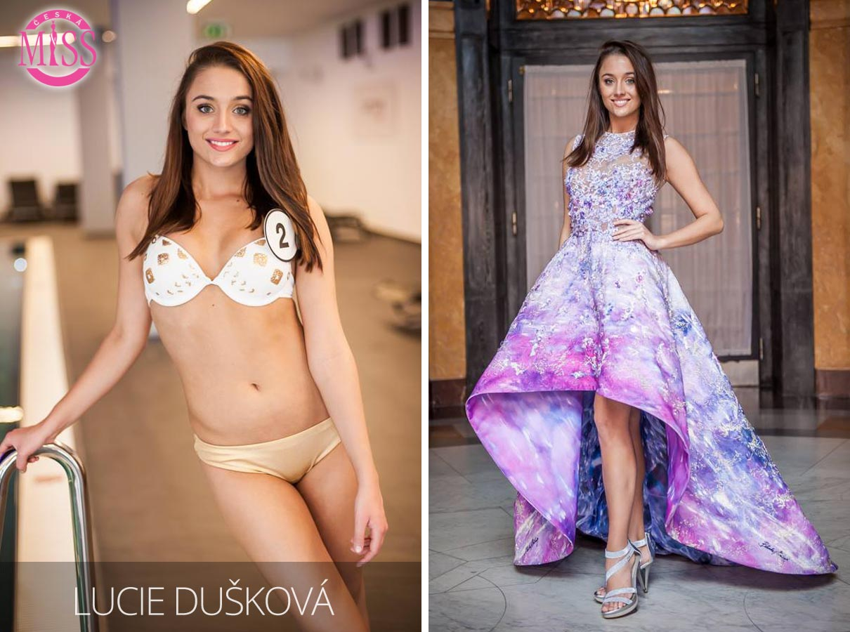 "Finalistka č.2 Česká Miss 2016 Lucie Dušková (plavky: <a href=""http://www.anrdoezrs.net/links/7863143/type/dlg/http://www.astratex.cz/plavky/"" target=""_blank"">Astratex</a>, šaty: Blanka Matragi)"