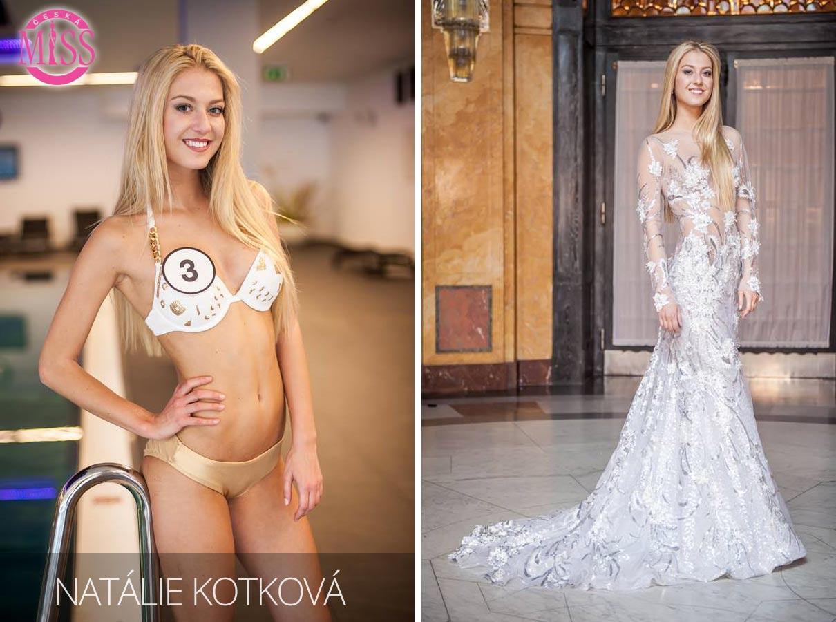 "Finalistka č.3 Česká Miss 2016 Natálie Kotková (plavky: <a href=""http://www.anrdoezrs.net/links/7863143/type/dlg/http://www.astratex.cz/plavky/"" target=""_blank"">Astratex</a>, šaty: Blanka Matragi)"