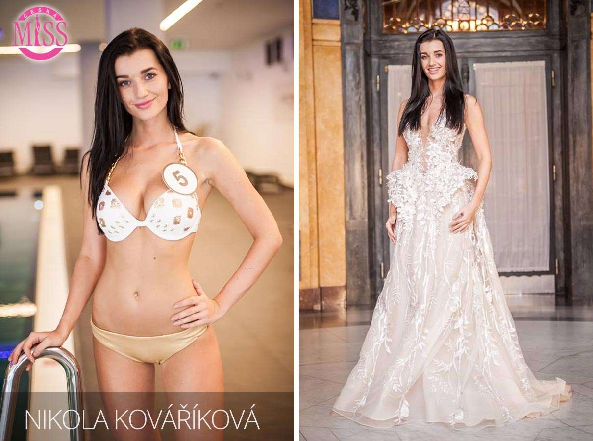 "Finalistka č.5 Česká Miss 2016 Nikola Kováříková (plavky: <a href=""http://www.anrdoezrs.net/links/7863143/type/dlg/http://www.astratex.cz/plavky/"" target=""_blank"">Astratex</a>, šaty: Blanka Matragi)"