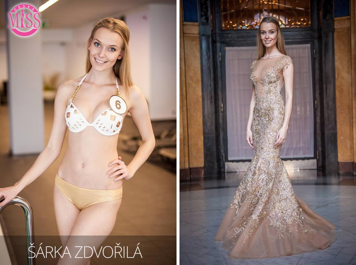 "Finalistka č.6 Česká Miss 2016 Šárka Zdvořilá (plavky: <a href=""http://www.anrdoezrs.net/links/7863143/type/dlg/http://www.astratex.cz/plavky/"" target=""_blank"">Astratex</a>, šaty: Blanka Matragi)"