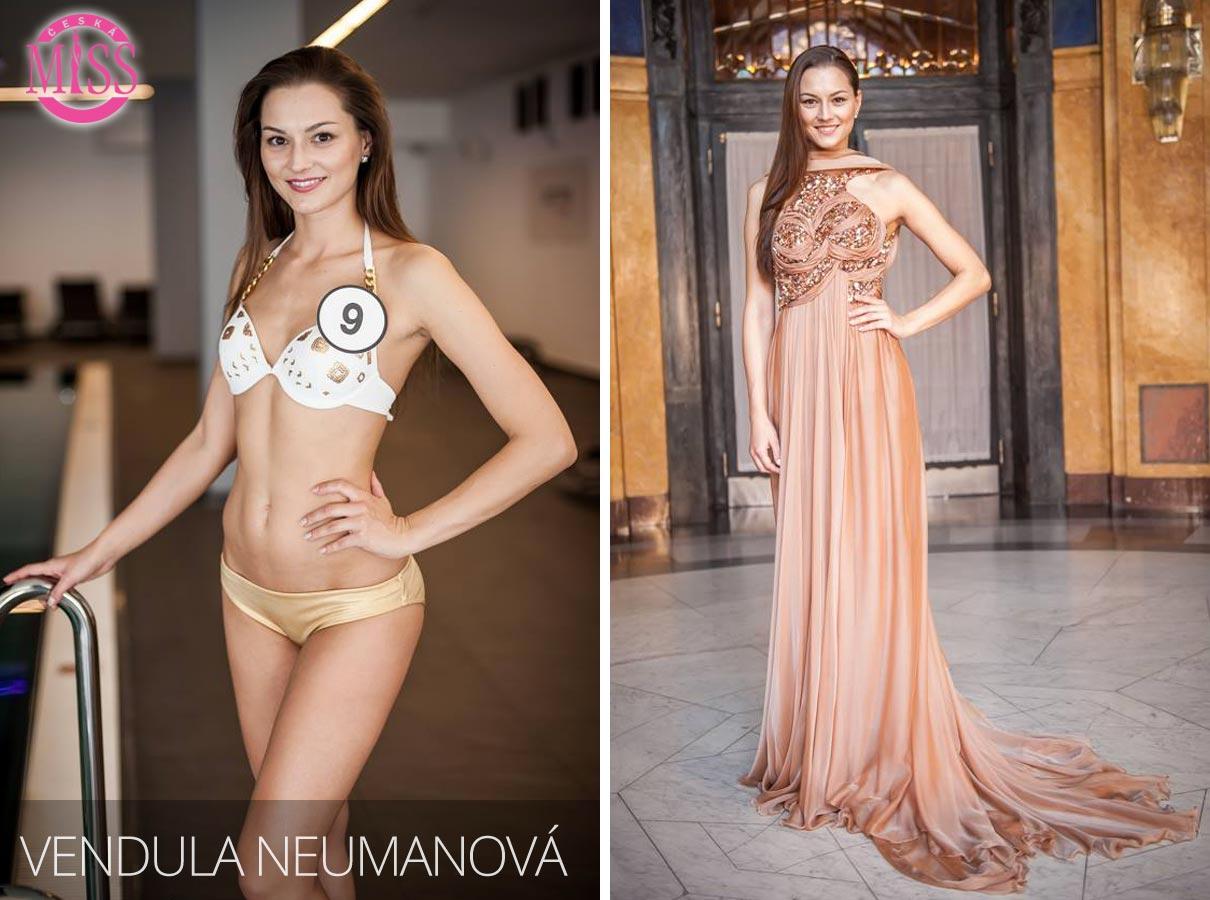 "Finalistka č.9 Česká Miss 2016 Vendula Neumanová (plavky: <a href=""http://www.anrdoezrs.net/links/7863143/type/dlg/http://www.astratex.cz/plavky/"" target=""_blank"">Astratex</a>, šaty: Blanka Matragi)"