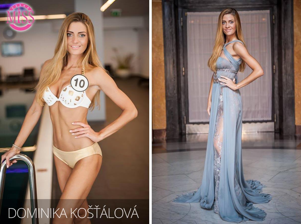 "Finalistka č.10 Česká Miss 2016 Dominika Košťálová (plavky: <a href=""http://www.anrdoezrs.net/links/7863143/type/dlg/http://www.astratex.cz/plavky/"" target=""_blank"">Astratex</a>, šaty: Blanka Matragi)"