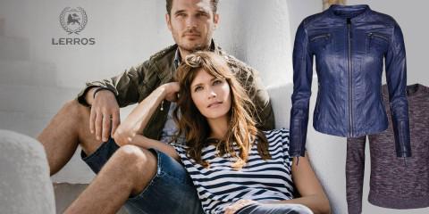 Probuďte svůj šatník sofistikovanou značkou Lerros. Dámské a pánské oblečení této značky dodá vašemu šatníku jiskru bez zbytečných výstředností.