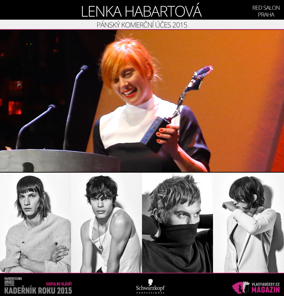 Vítězem v kategorii Pánský komerční účes Czech and Slovak Hairdressing Awards 2015 je Lenka Habartová ze salonu RED salon v Praze.