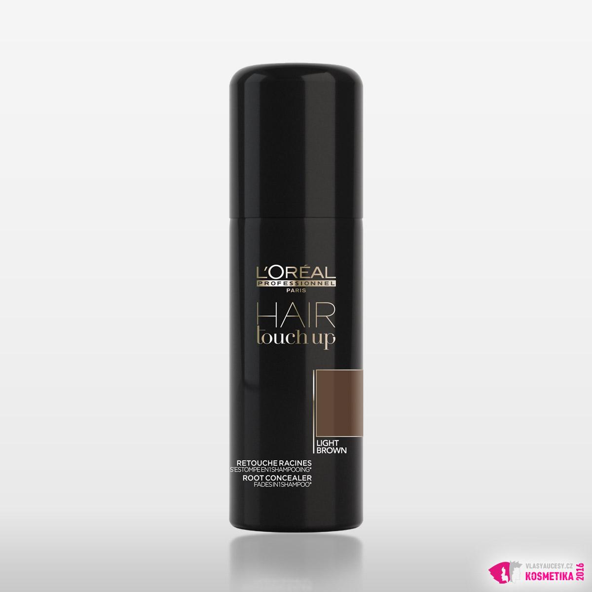 Krycí sprej na odrosty Hair Touch Up ve světle hnědé barvě