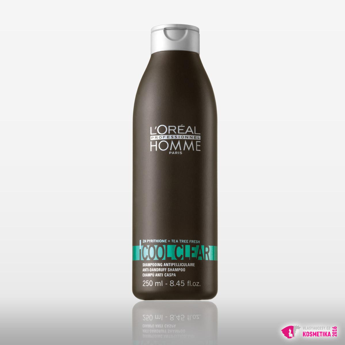Šampon Coolclear od L'Oréal Professionnel Homme / 250ml, 249 Kč / 9,90 €