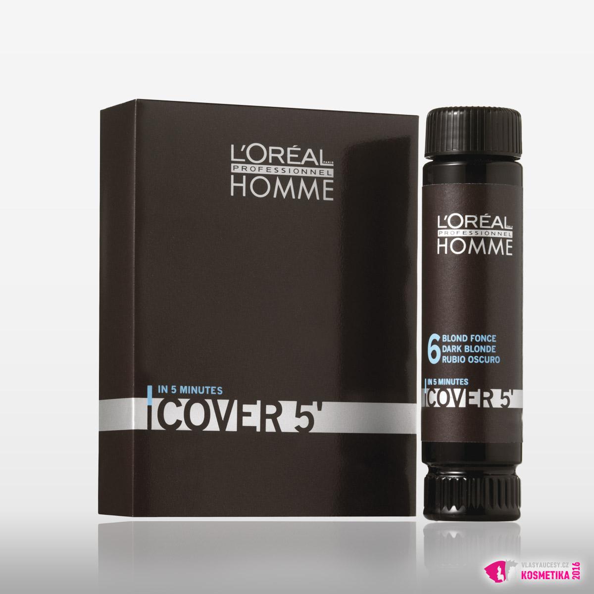 Gelová barva pro muže COVER 5 od L'Oréal Professionnel Homme je k dostání exkluzivně v Salonech Expert L'Oréal Professionnel