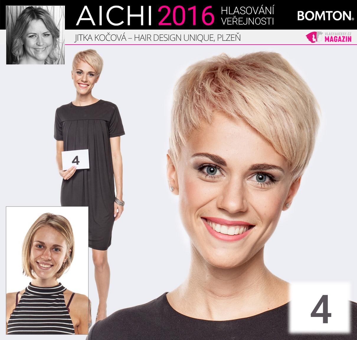 Finálová proměna Jitky Kočové z Hair Design Unique Plzeň obsadila v hlasování veřejnosti druhou příčku.