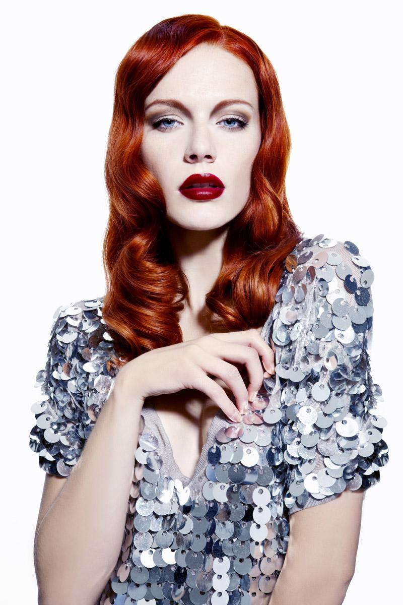 Účes Glamour vlny, kadeřnictví Hair Art Design – Monika Kostecká.