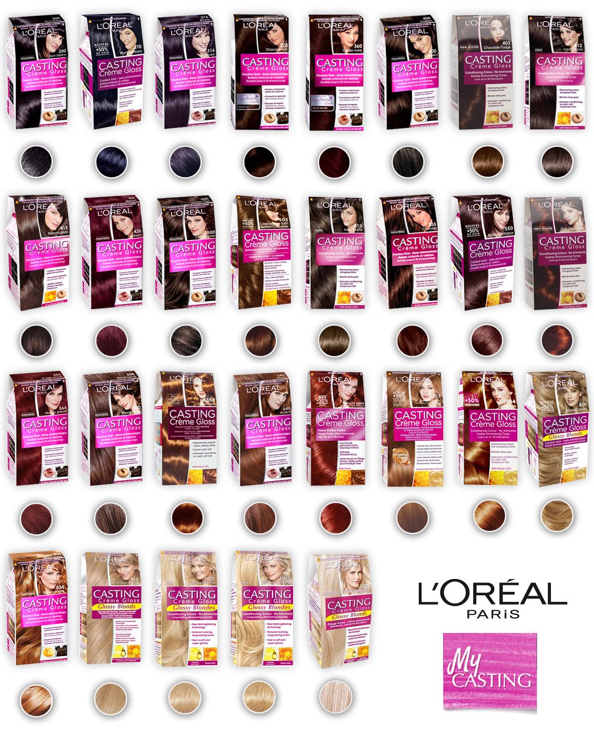 Odstíny barvy na vlasy Casting Crème Gloss od L`Oréal Paris