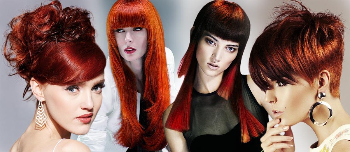 Galerie účesů – červené vlasy