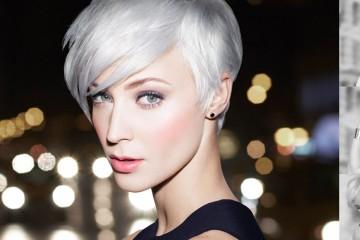 Nový účes modelky Danielle Williams – platinová blond.