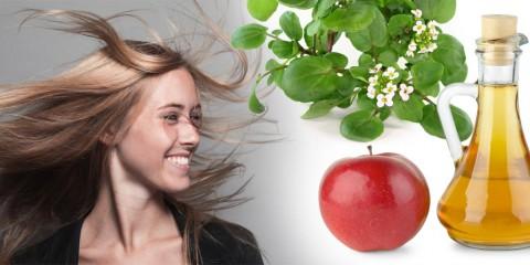 Docela běžná bylina, potočnice, spolu s jablečným octem, dokáže, že se pro vás mastné vlasy stanou minulostí. Stačí jednoduchý nálev na oplachování!