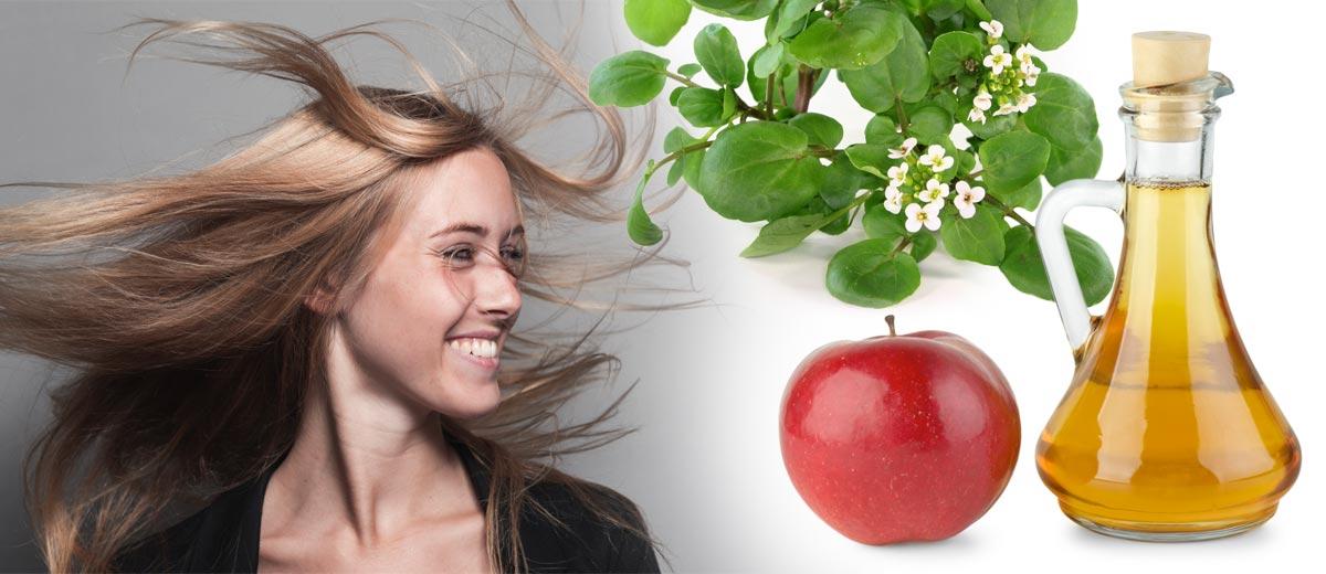 Vyhrajte svůj věčný boj s mastnými vlasy přírodní cestou.  Mastné vlasy oplachujte nálevem z potočnice a jablečného octu!