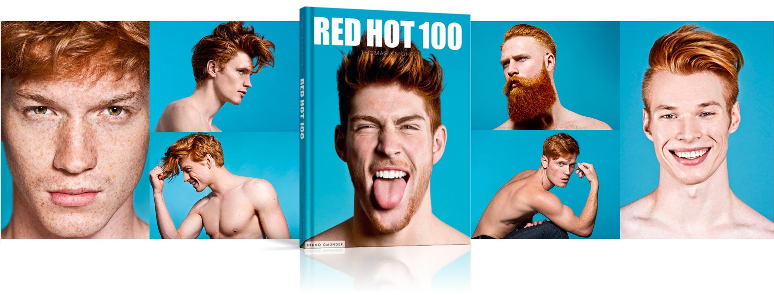 Kromě výstavy, kde fotograf Thomas Knights vystavuje 40 zrzavých mužů na fotografiích, je na trhu také publikace pod výstižným názvem RED HOT 100, kde se plejáda modelů rozšířila na rovných 100.