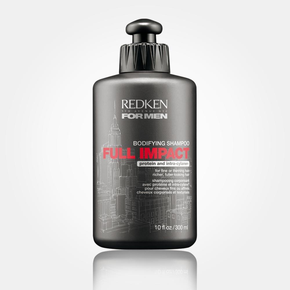Šampon pro muže REDKEN FOR MEN – FULL IMPACT: dodává objem jemným a řídnoucím vlasům.
