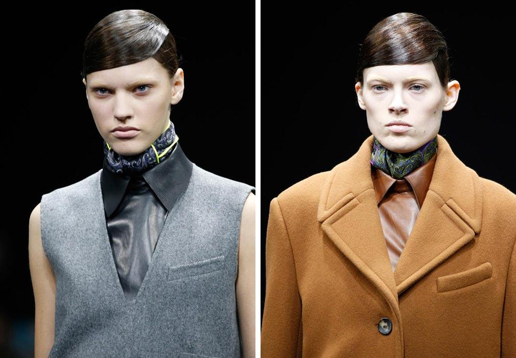Účesy z RTW kolekce Alexander Wang pro podzim a zimu 2014/2015 směle zkombinujete i s jeho kolekcí Alexander Wang pro H&M, která se ještě letos objeví na pultech vybraných H&M butiků.