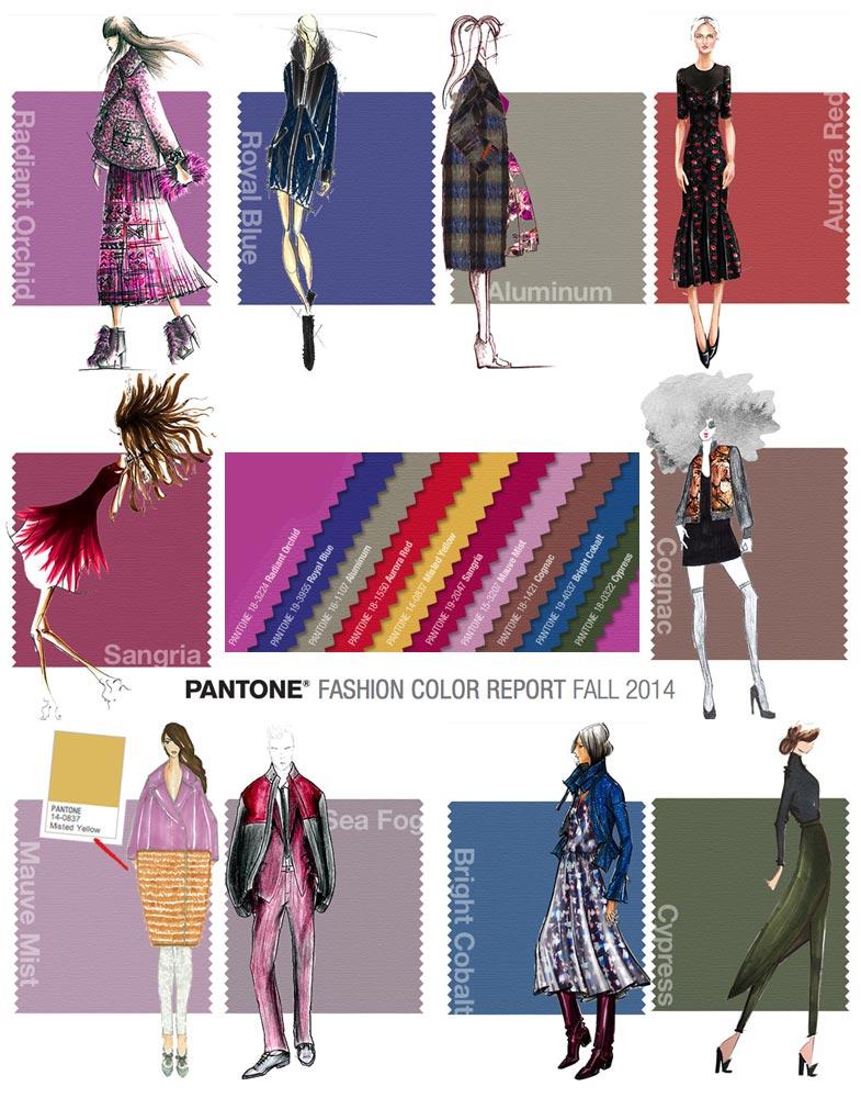 Nezapomeňte, že váš nový módní účes v odstínu trendy barev Pantone Fall 2014 musí ladit s oblečením.