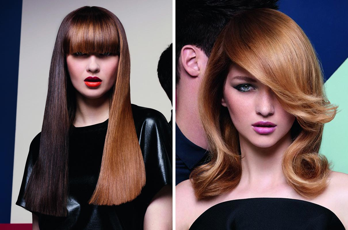Měděná barva má mnoho odstínů a řešení. Tmavší a matnější měděné odstíny blížící se k hnědým odstínům nezdůrazňují věk a vrásky – na rozdíl od těch zářivých.