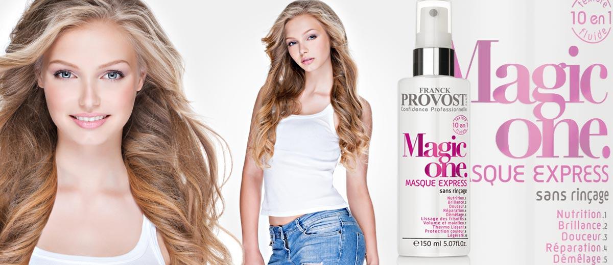Vyzkoušejte bezoplachovou masku na vlasy Magic One 10 v 1 od Franck Provost! Slibuje dodat našim vlasům vše co potřebují v jednom jediném produktu.