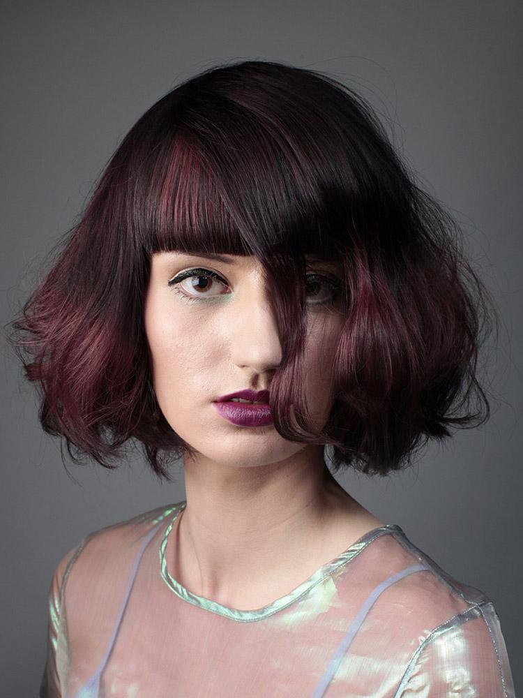 Účesy pro polodlouhé vlasy podzim/zima 2014/2015: Čin čin sangria.