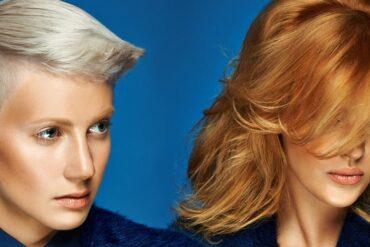 Kadeřníci Karel Dražan a Miroslav Popper představují nové účesy z kolekce Blond Silhouette Redken podzim/zima 2014/2015.