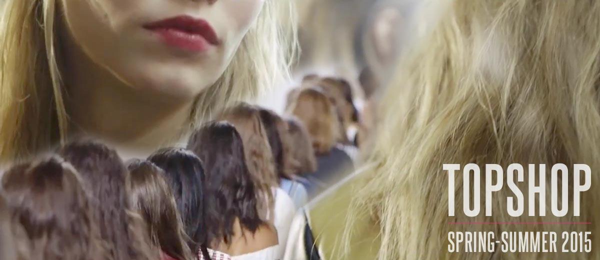L'Oréal Professionel pro Topshop: nápady na účesy S/S 2015.
