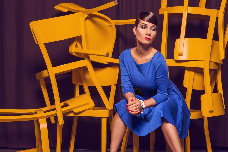 Hořkosladká Evu Decastelo v nové kolekci účesů BitterSWEET by Hair studio Honza Kořínek.