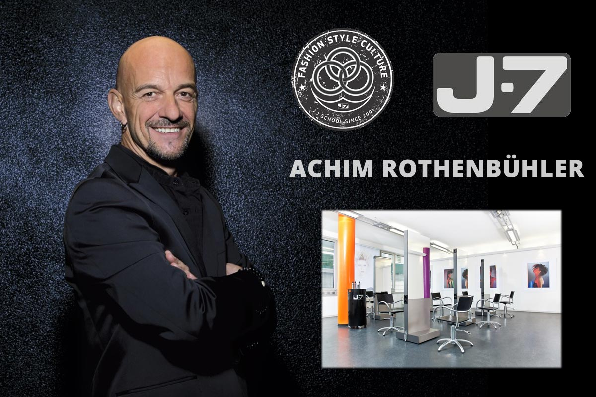 Stylista Achim Rothenbühler patří mezi nejuznávanější kadeřníky v Europě. Je ambasadorem německého L'Oréal Professionnel a stojí na čele jedné z největší sítě salonů v Německu, která nese název J-7.