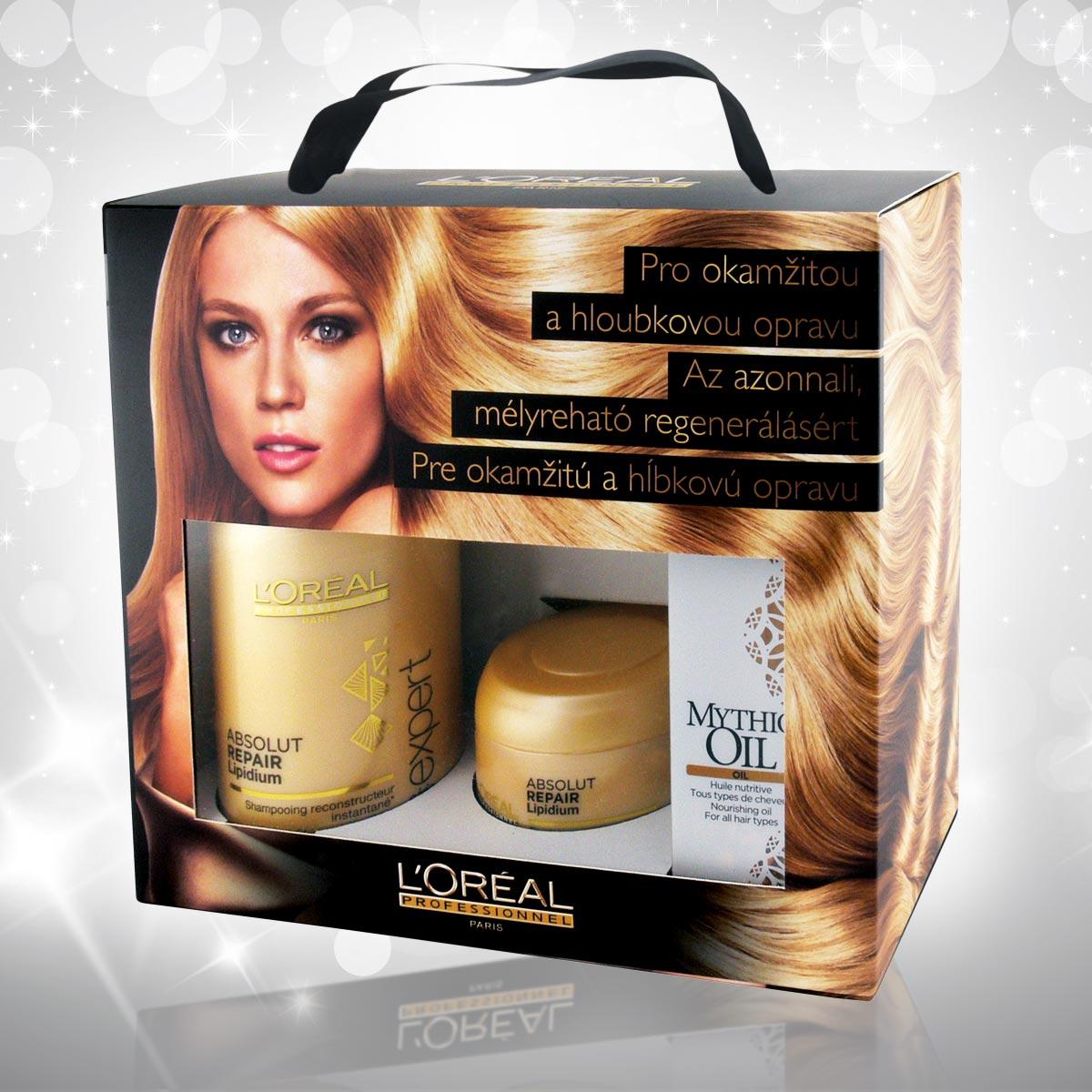 Vánoční dárky L'Oréal Professionnel 2014 – Absolut Repair Lipidium pro okamžitou a hloubkovou opravu vlasů.