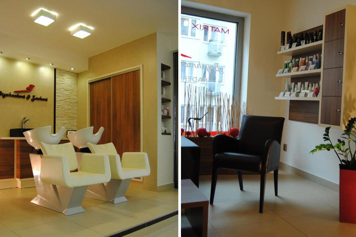 Interiér kadeřnického salonu Brychnačová&Zachová.