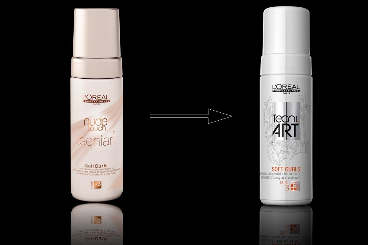 L'Oréal Professionel Nude Touch Soft Curls Tecni.ART dříve a nyní. Vlastnosti a použití přípravku se nemění.