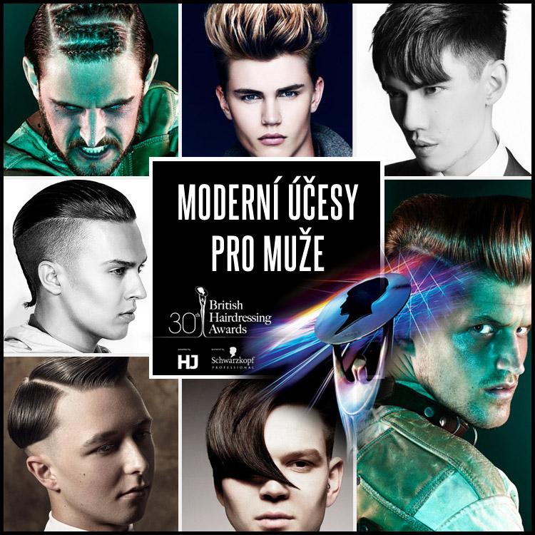 Moderní účesy pro muže podle finalistů BHA 2014 v kategorii nejlepší pánský kadeřník.