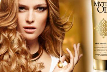 Mythic Oil Sève Protectrice chrání vlasy proti teplu při úpravě žehličkou nebo kulmou. Kadeřníci L'Oréal Professionnel vám poradí, jak na to!