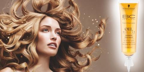 V kadeřnictvích si teď můžete dopřát olejovou hřejivou kúru BC Oil Miracle od Schwarzkopf Professional s okamžitým obnovujícím efektem pro vlasy.
