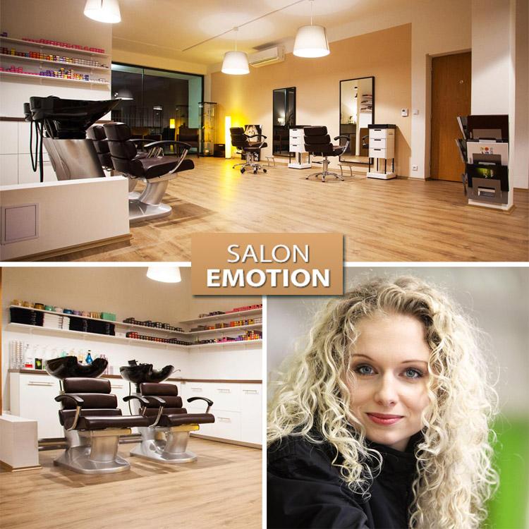 Renata Flámová, majitelka nového studia Salon EMOTION a interiér jejího nového zlínského kadeřnictví.