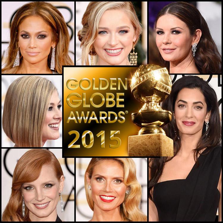 Inspirujte se slavnostními účesy z Golden Globes 2015.